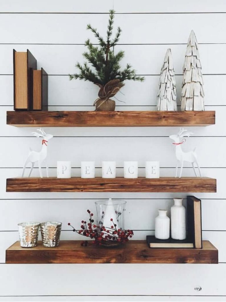 floating shelves display ideas