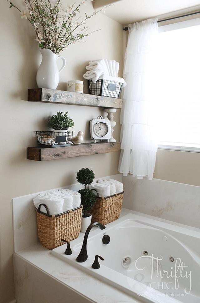 floating shelves ideas bathroom