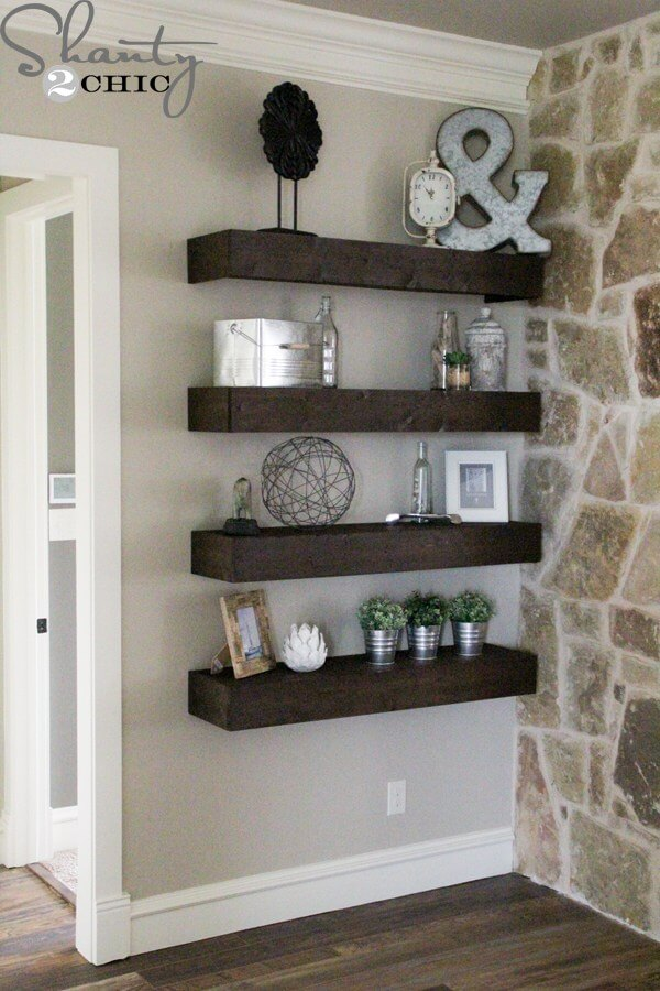 floating shelves ideas decorating