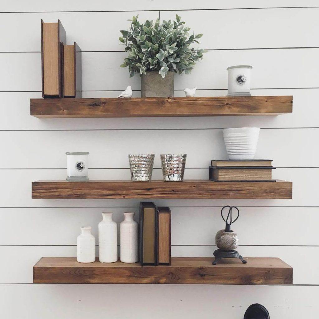 floating shelves ideas for living room