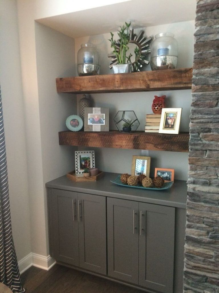 floating shelves placement ideas