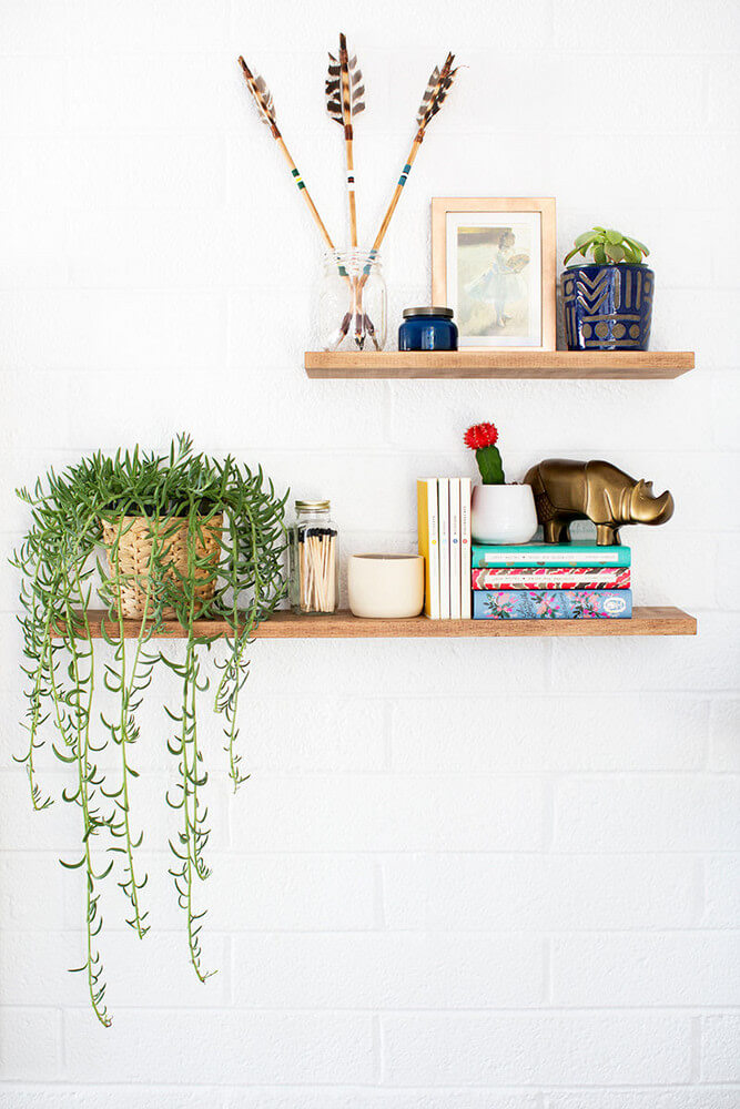 floating shelves wall ideas