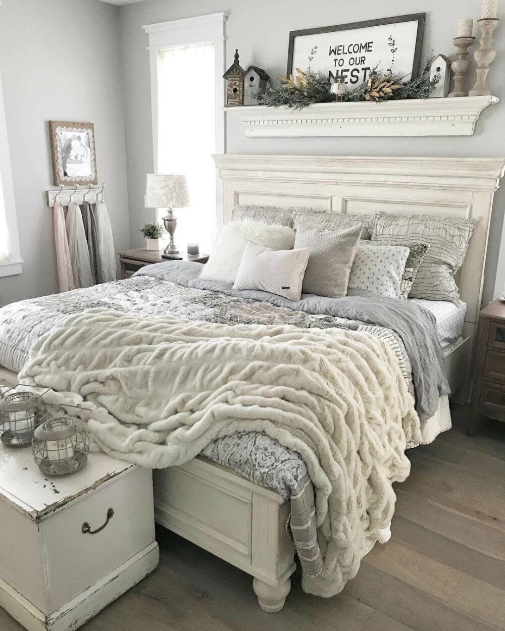 gray farmhouse bedroom ideas
