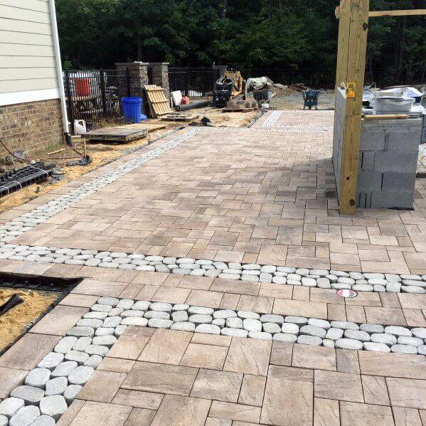paver patio edging ideas