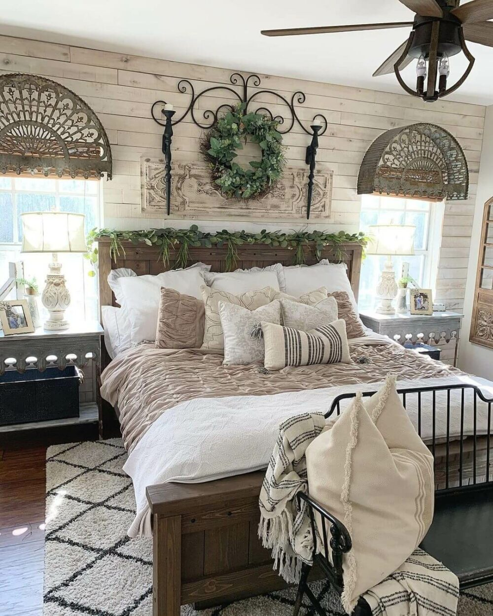 rustic farmhouse bedroom ideas