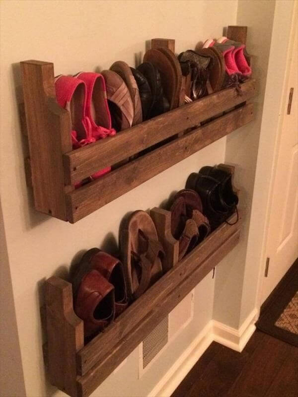 shoes storage wood