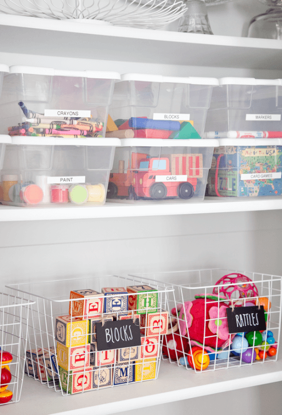 toy organizer idea for living room