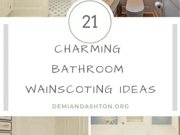 Charming Bathroom Wainscoting Ideas