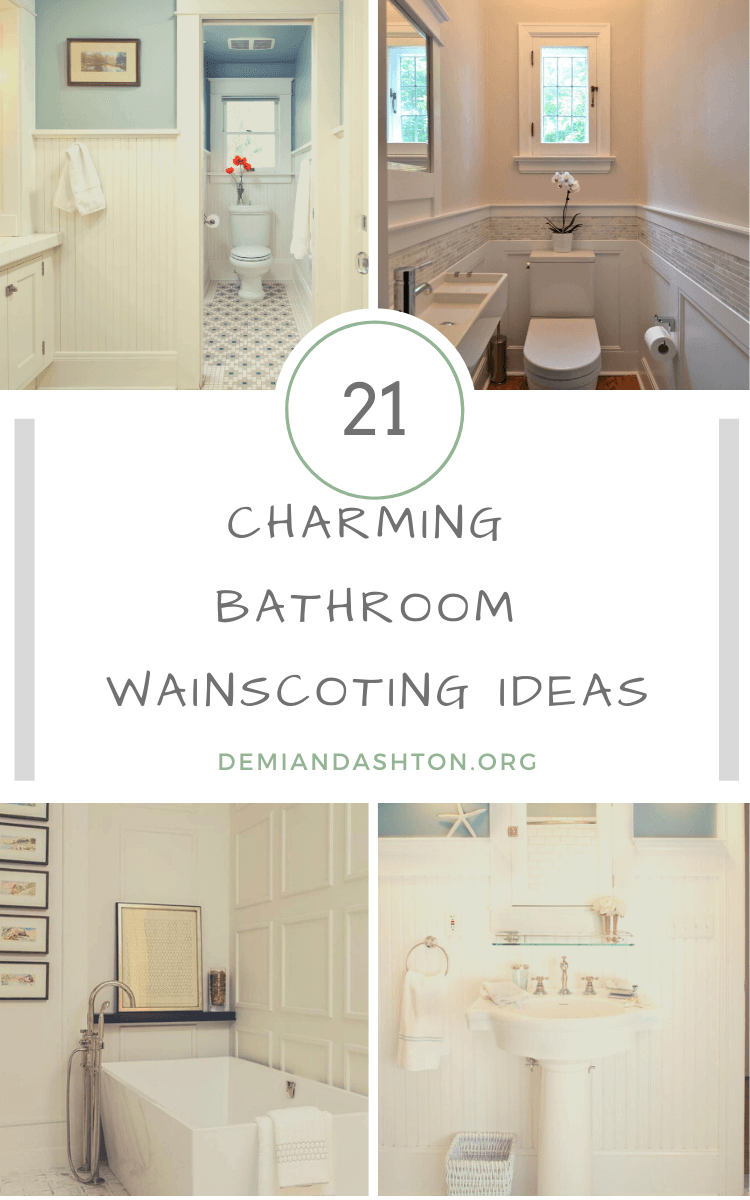 Charming Bathroom Wainscoting Ideas