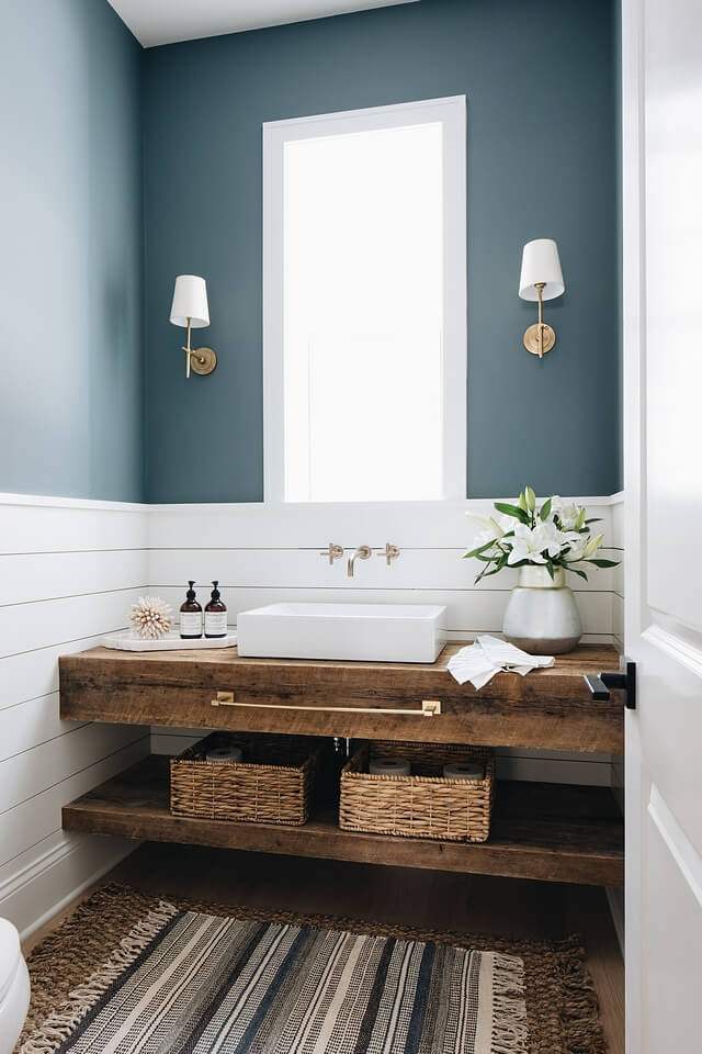 bathroom wainscoting images