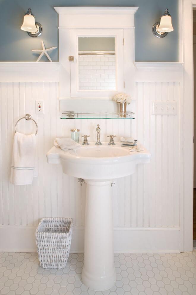 bathroom wainscoting photos