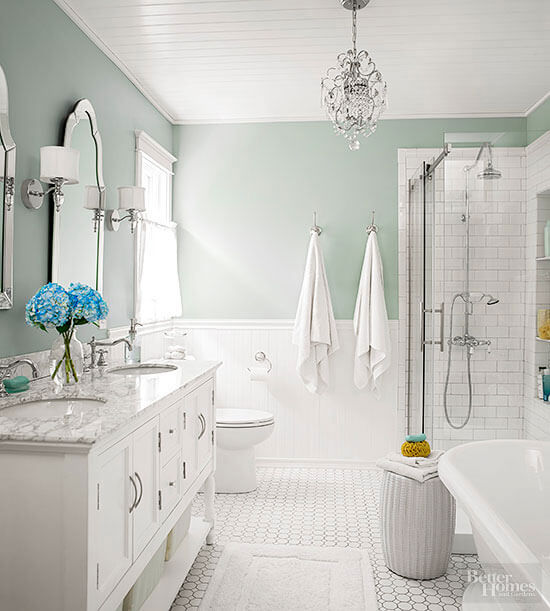 bathroom wainscoting pictures