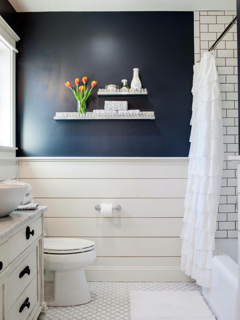 bathroom wainscoting tile