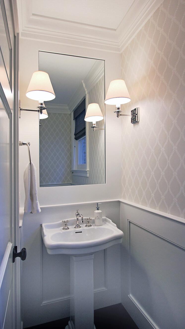 bathroom with wainscoting