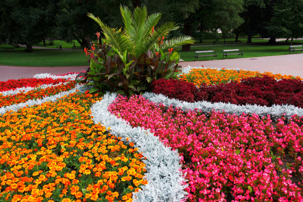 circular flower bed ideas