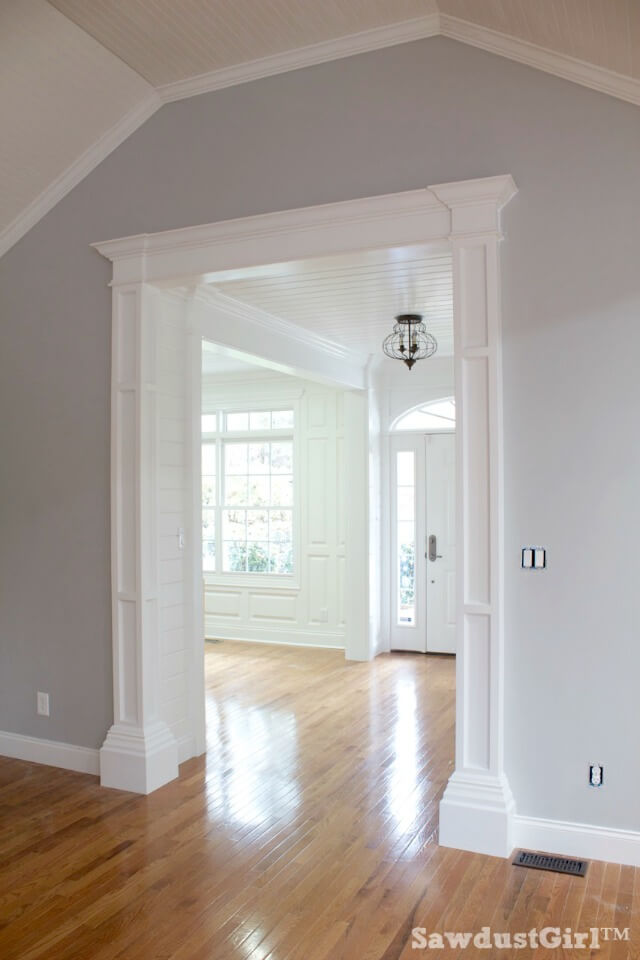 crown molding ideas living room