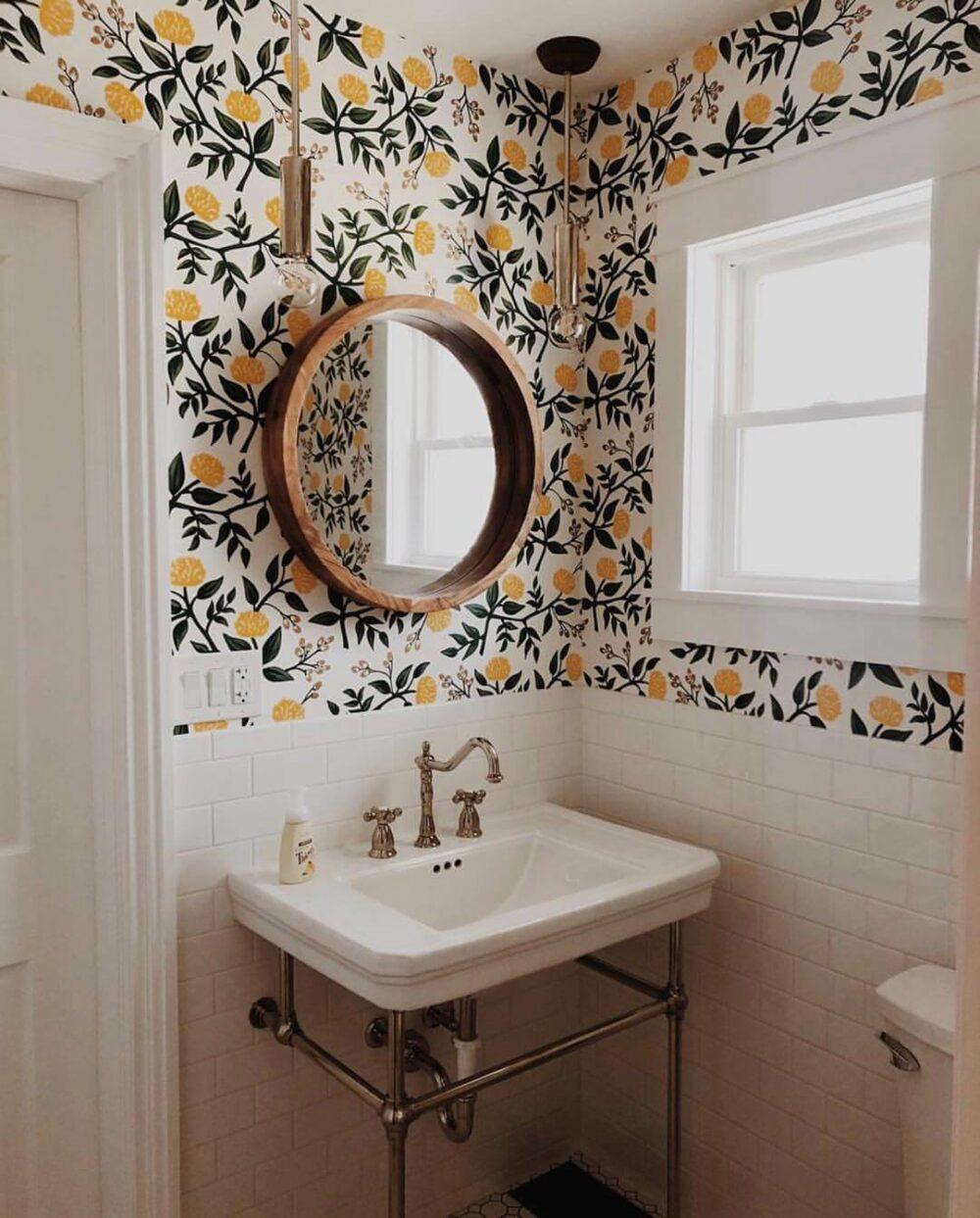 elegant bathroom wall decor