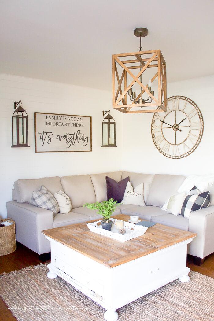 farmhouse living room wall decor