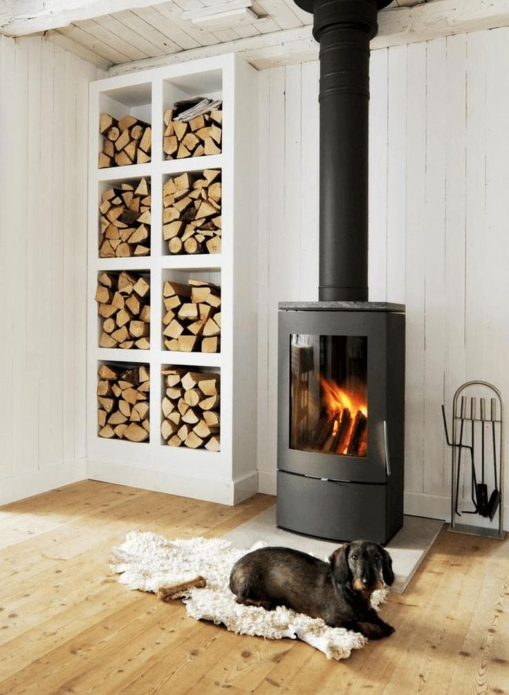 firewood storage box indoor
