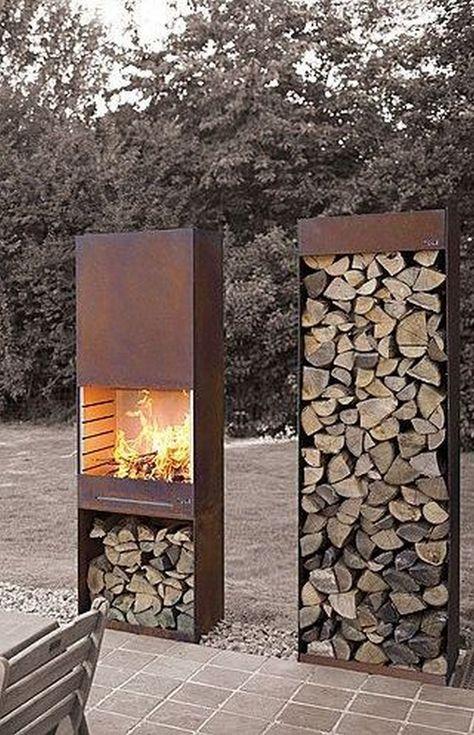 firewood storage box