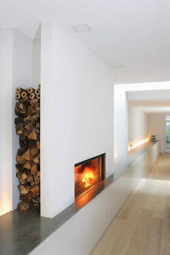 firewood storage inside