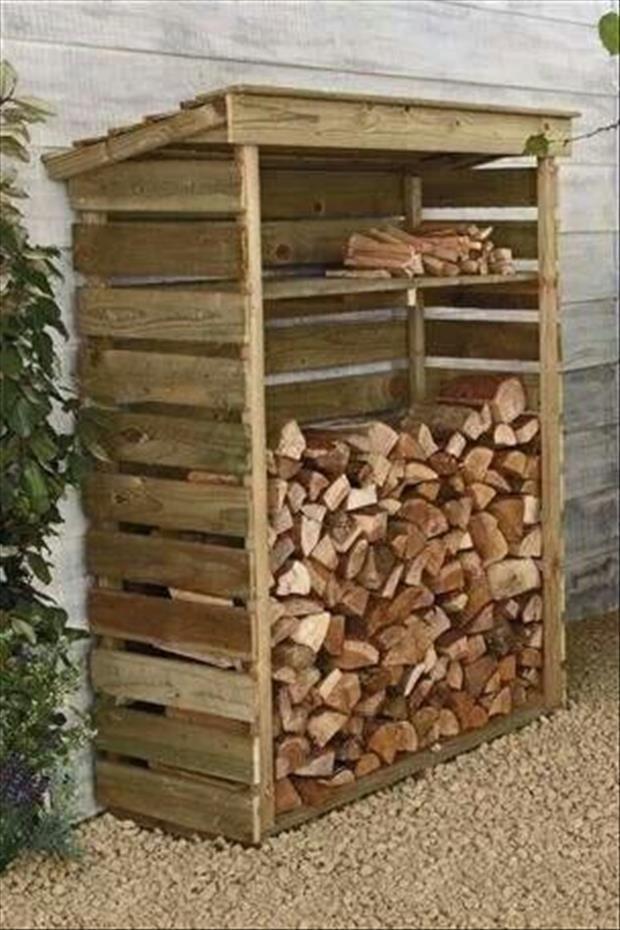 firewood storage pallets