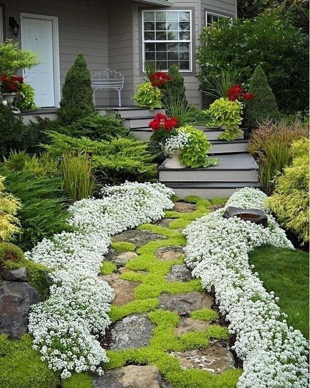 flower bed ideas for front of house