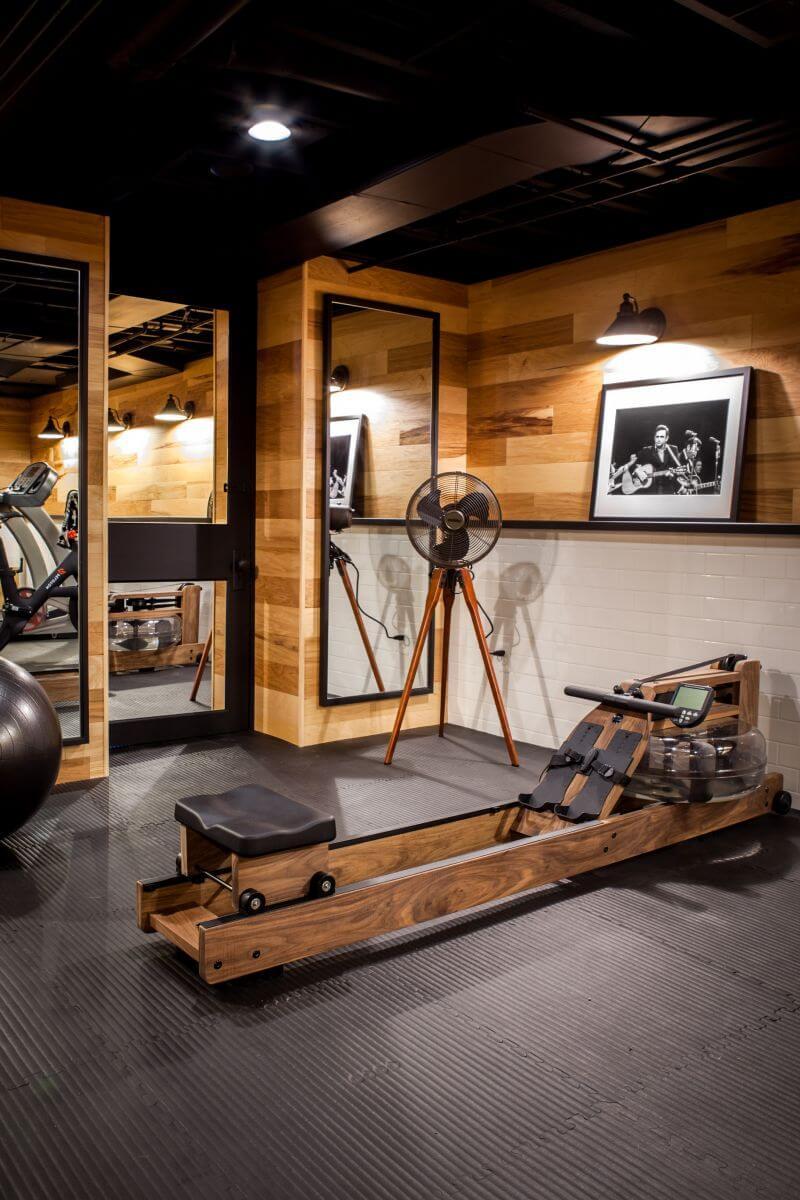 home gym ideas for basement