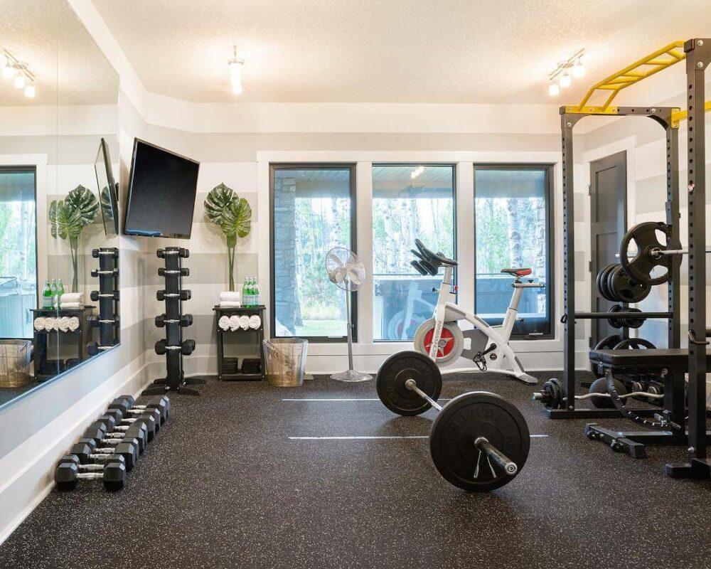 ideas for home gym decorating
