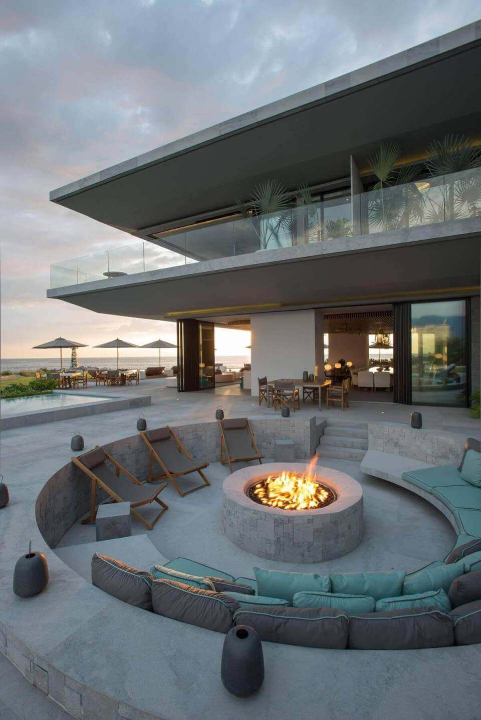 inground fire pit ideas