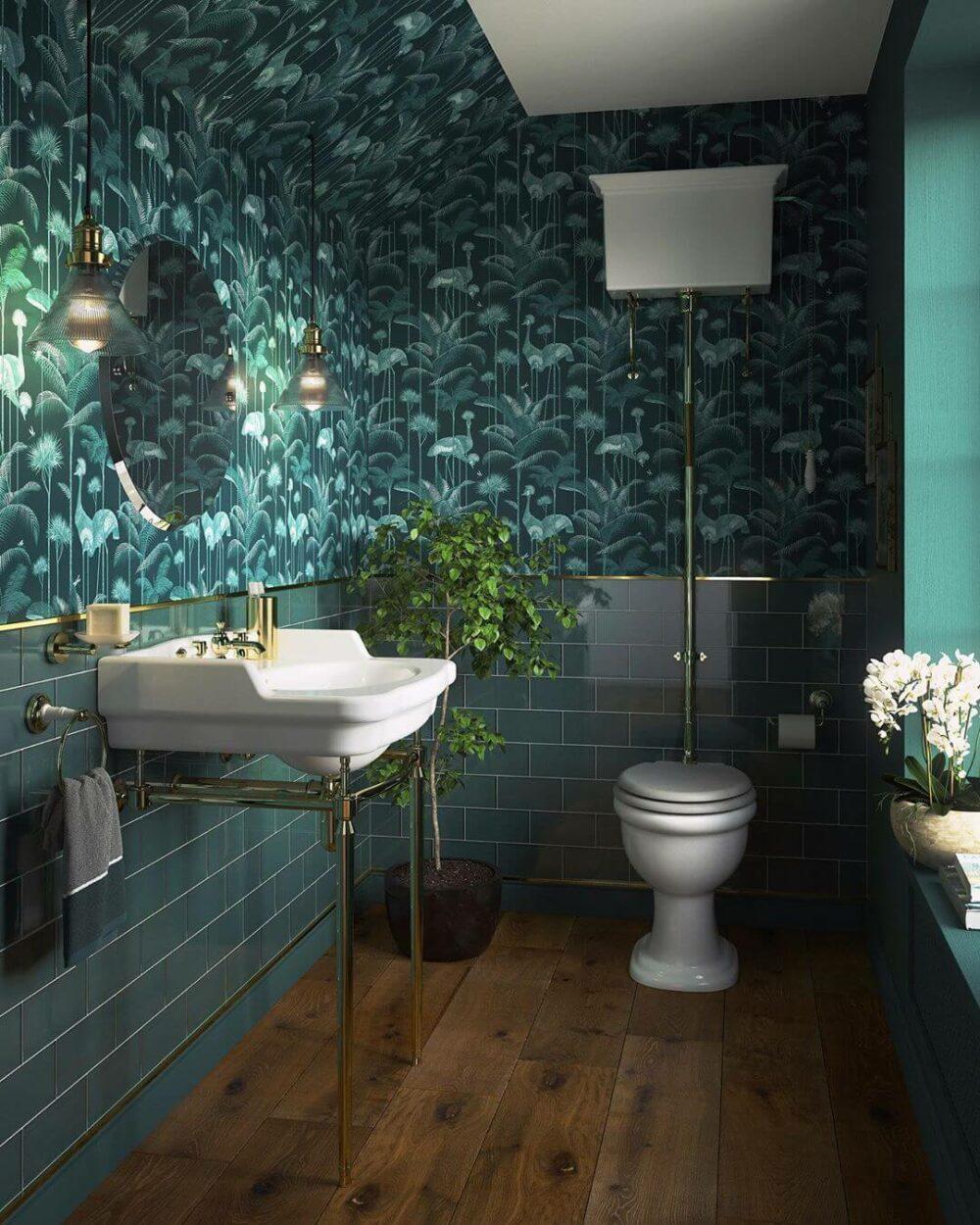 large bathroom wall decor