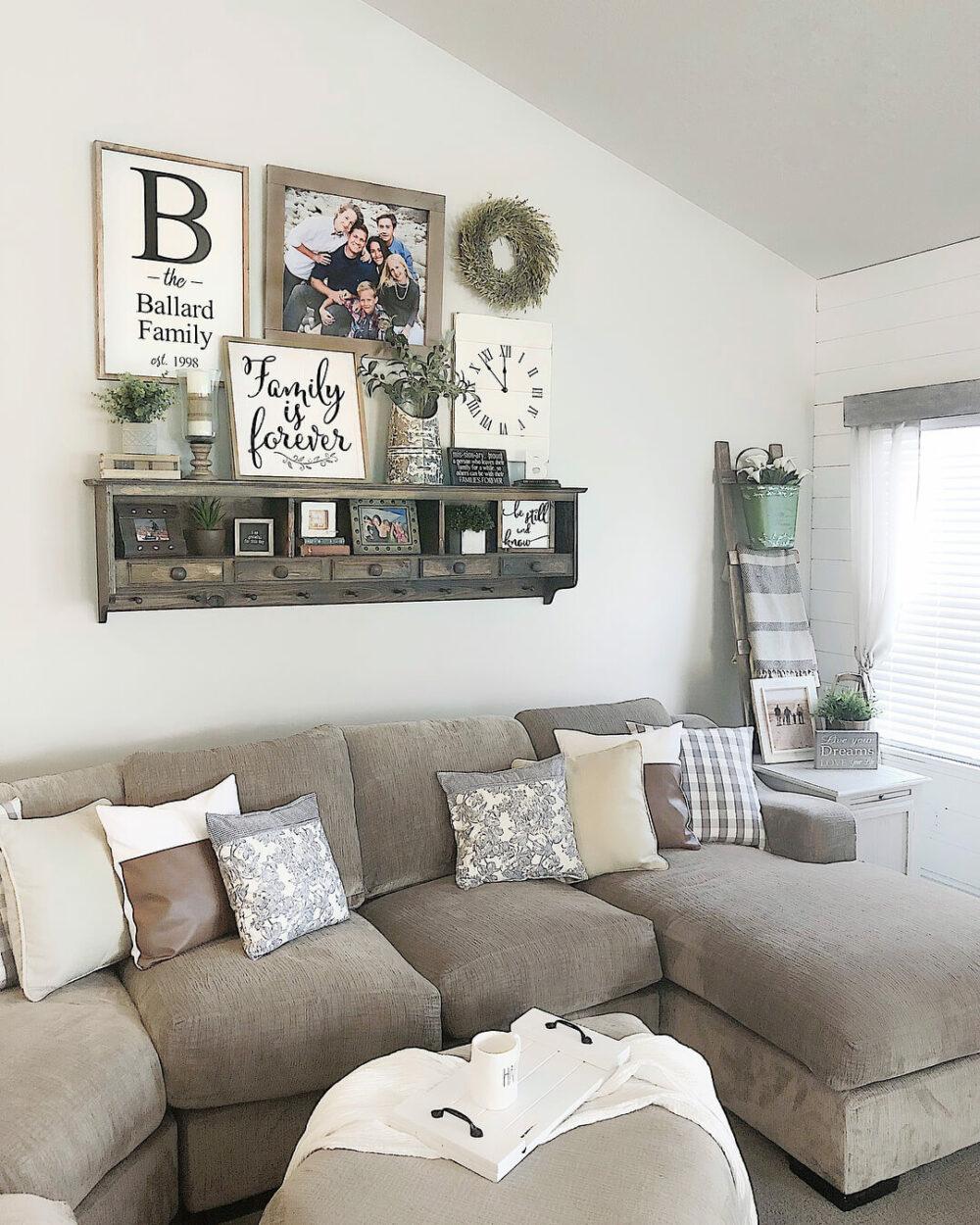 large living room wall decor