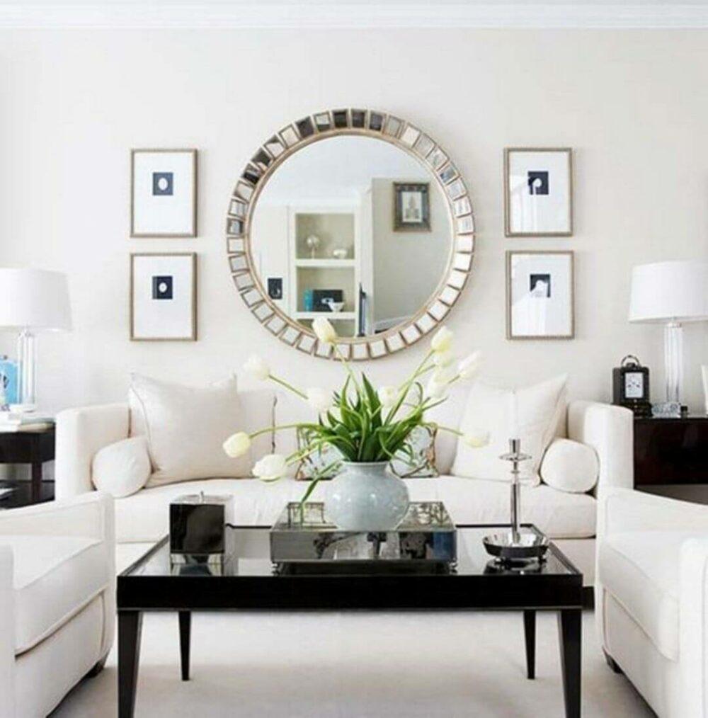 living room wall decor mirrors