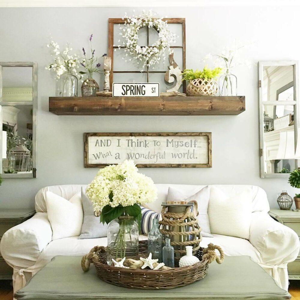 living room wall shelves ideas