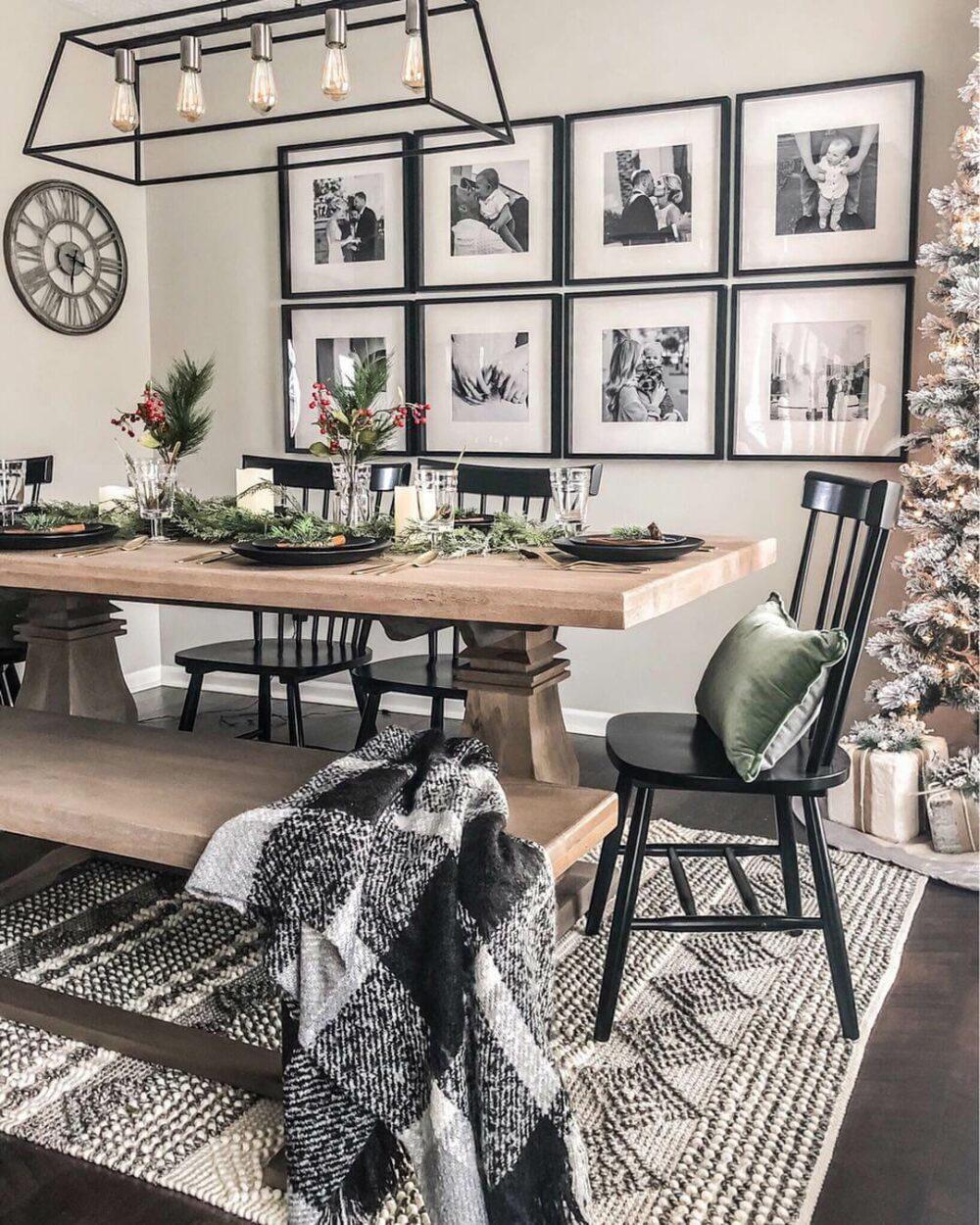 modern farmhouse dining room wall decor