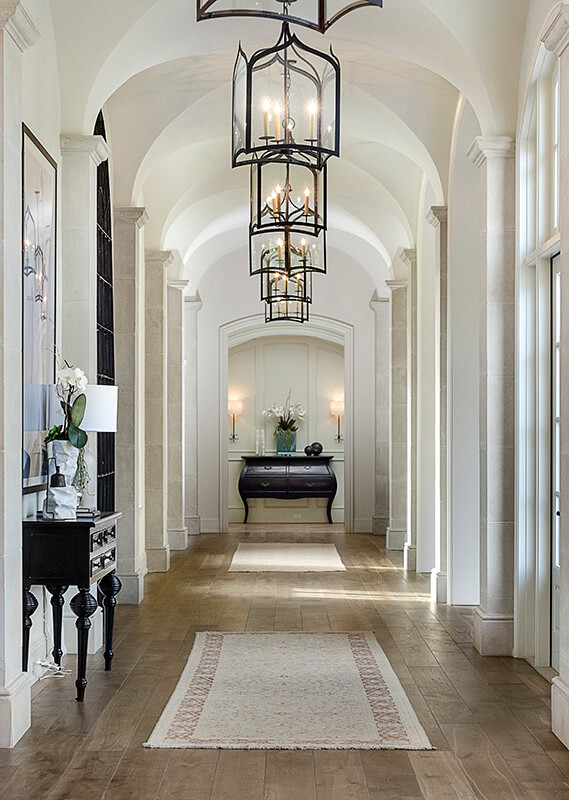 narrow hallway lighting ideas