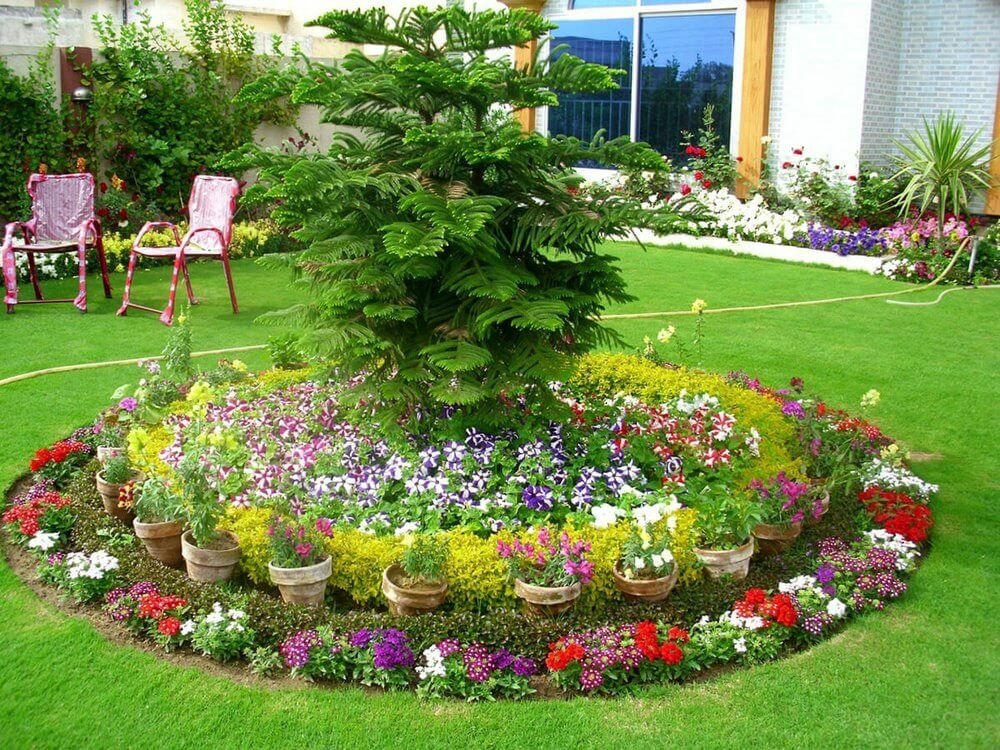 outdoor flower bed ideas