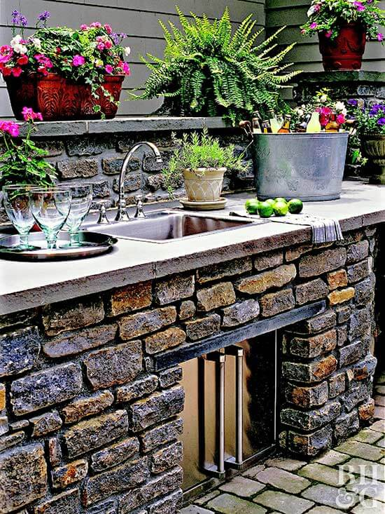 outdoor kitchen storage ideas
