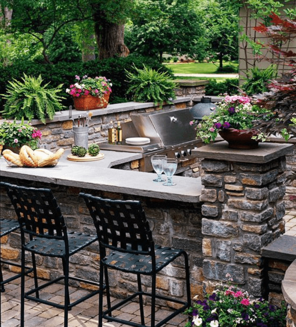 outdoor kitchen tile ideas