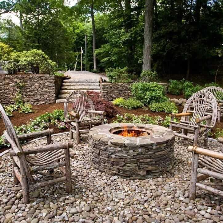 stone fire pit ideas
