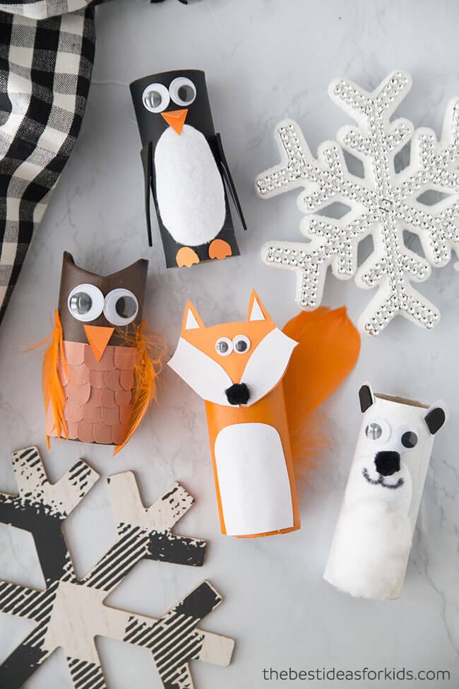 toilet paper roll crafts animals