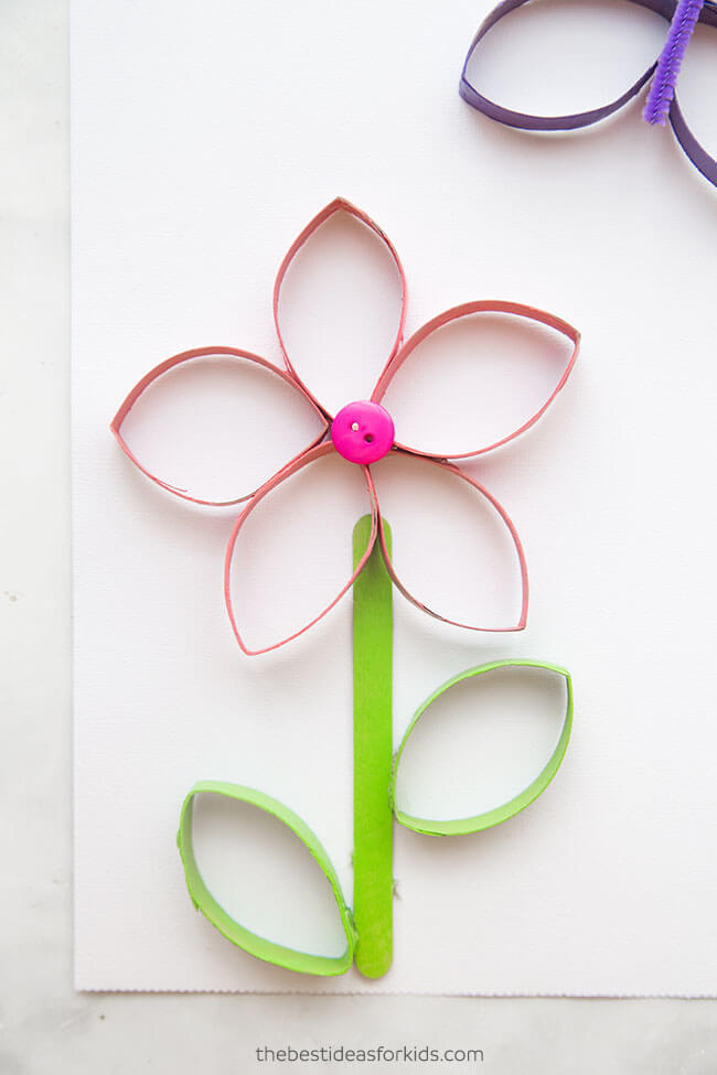 toilet paper roll crafts flowers