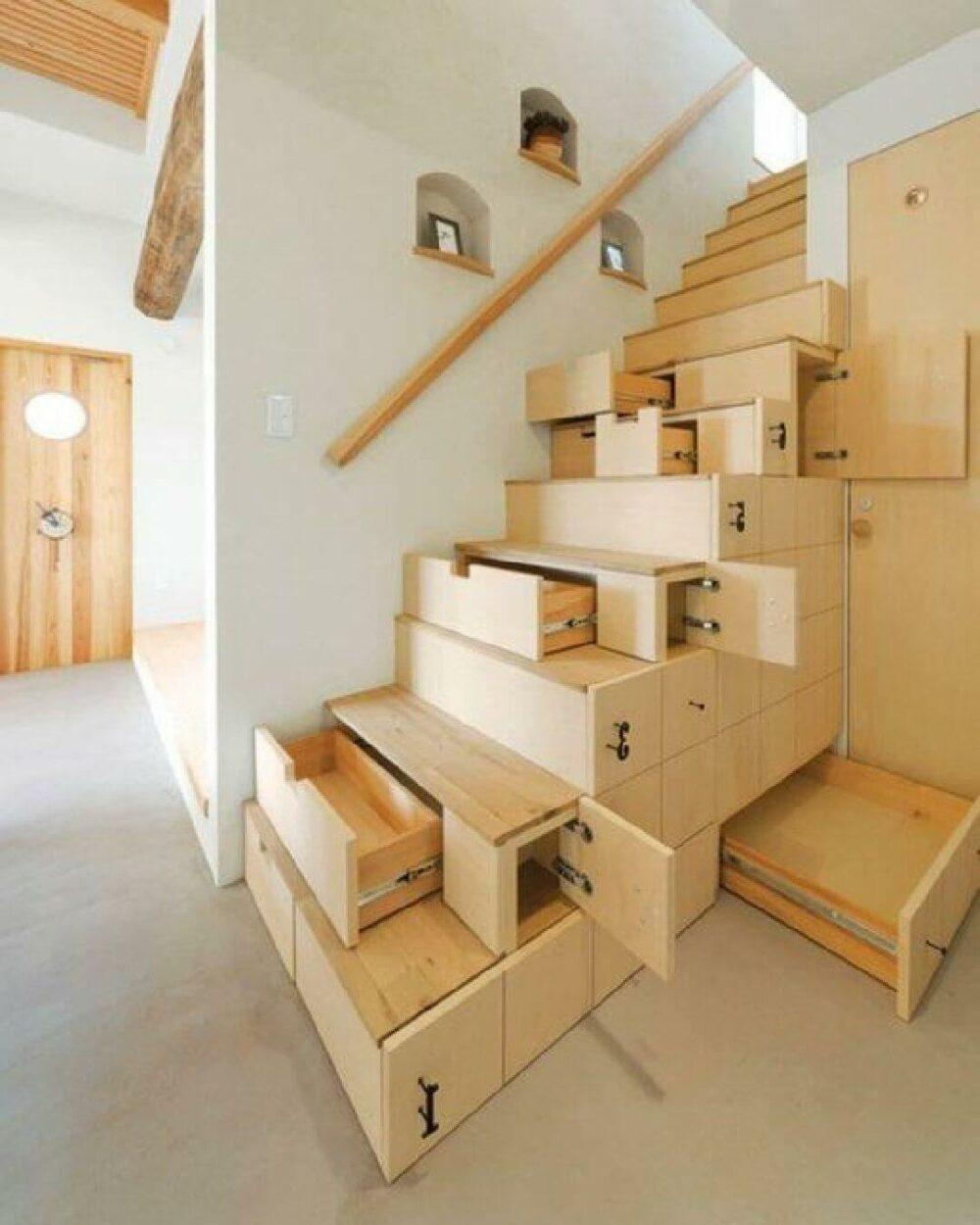 under stair hidden storage