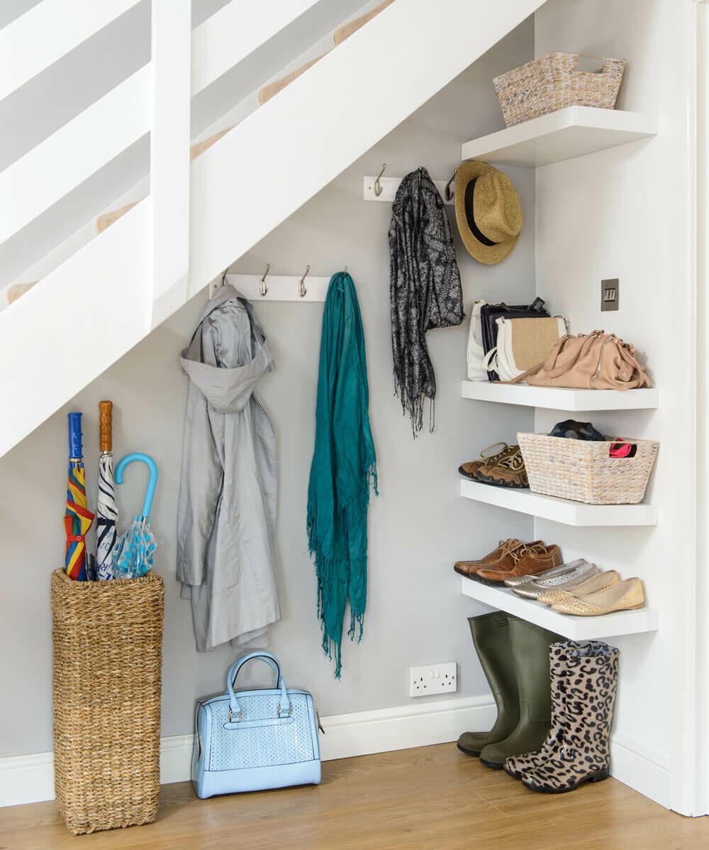 under stair storage closet