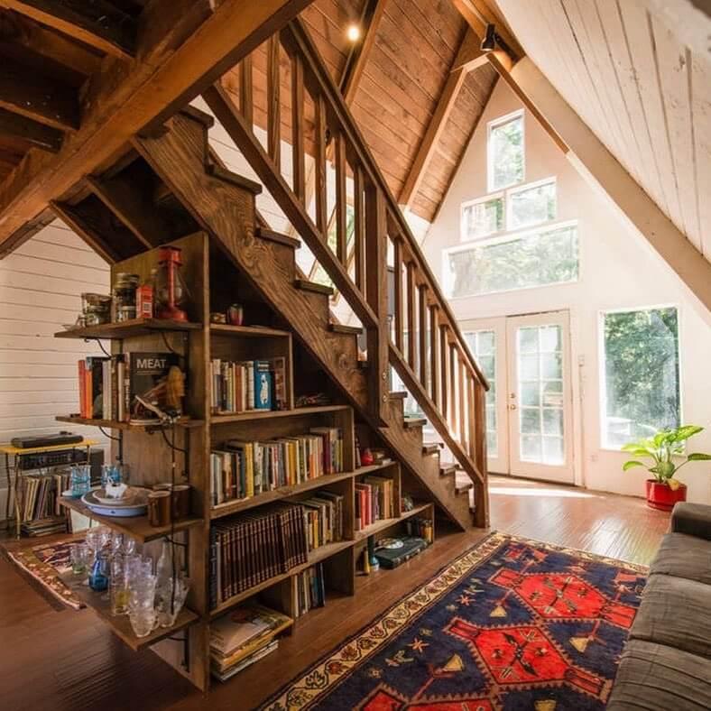 under stair storage living room