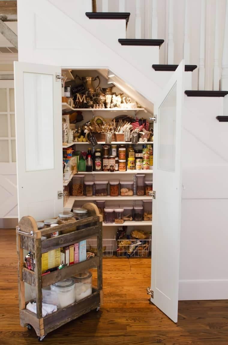 under stair storage shelves