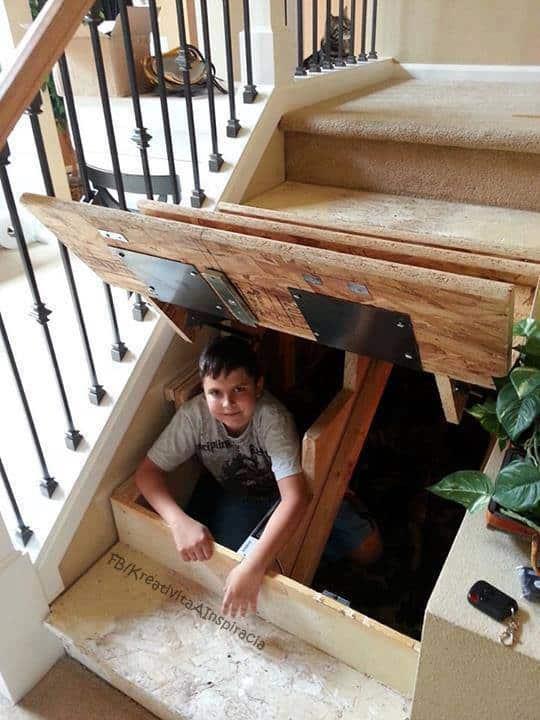 under stair storage system