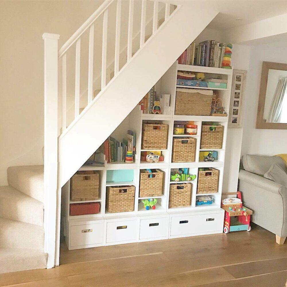 under stair toy storage