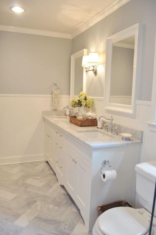 wainscoting bathroom walls