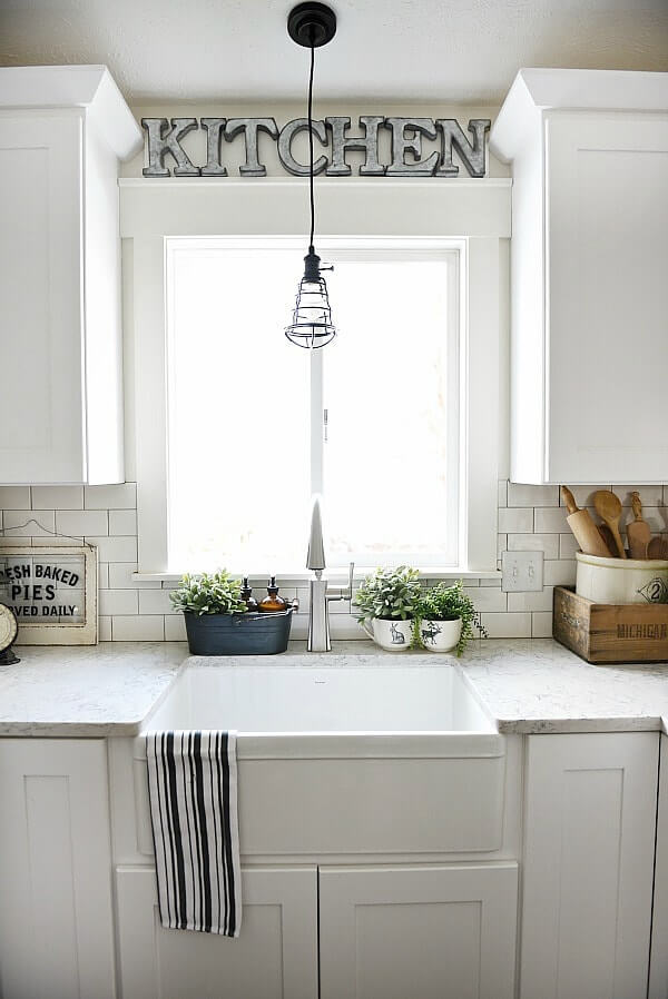 window over kitchen sink ideas